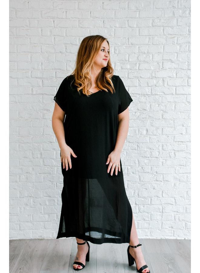 Forever + Always Black Dress