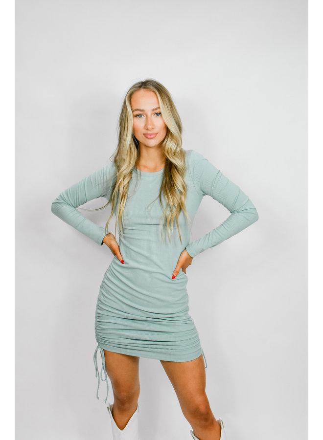 Ocean Eyes Ruched Dress