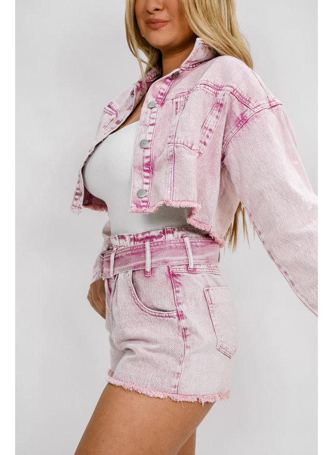 Yes Way Rosè Denim Shorts