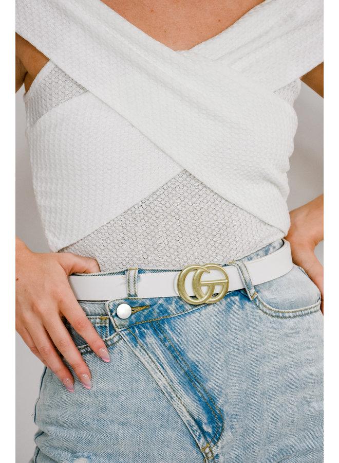 Rodeo Drive Belt- White