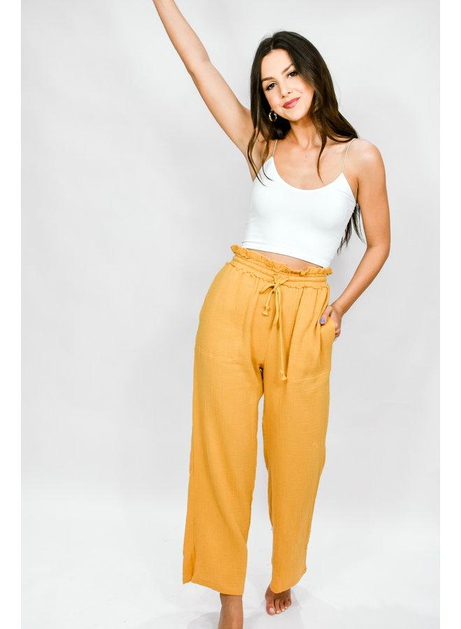 Sunflower Fields Flowy Pants