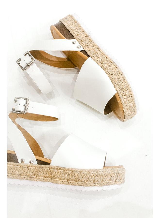 White Weekender Sandal