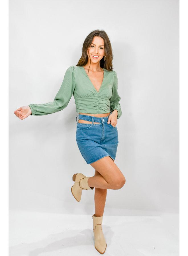 On Brand Slit Skirt