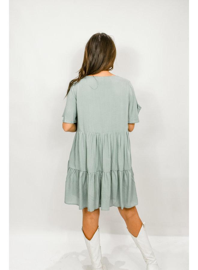 Easter Brunch Button Dress