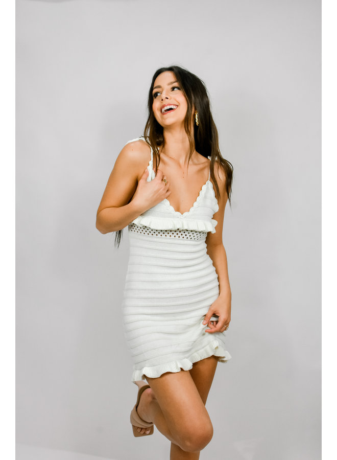 On Vacay Crotchet Dress