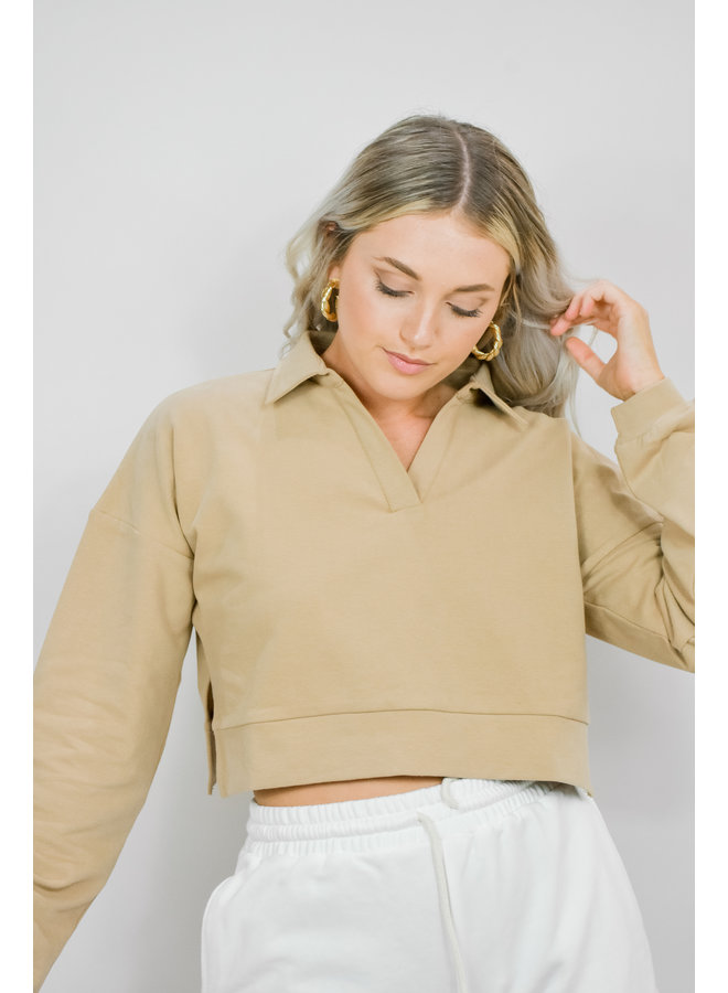 Attitude Check Cropped Pullover