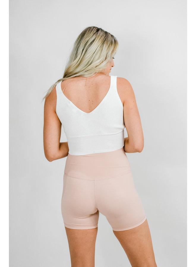 Track Star Biker Shorts - Pink