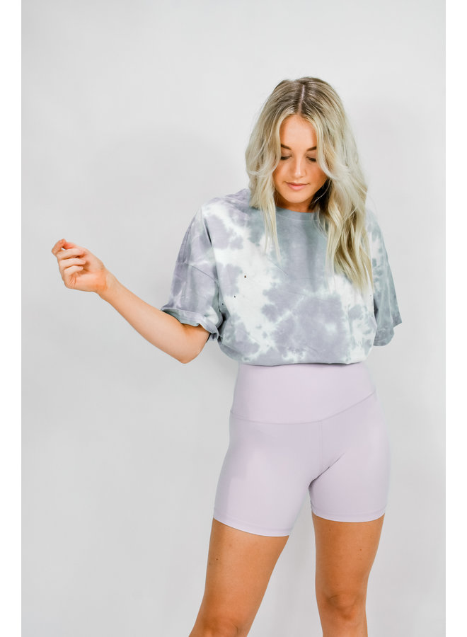 Track Star Biker Shorts - Lilac