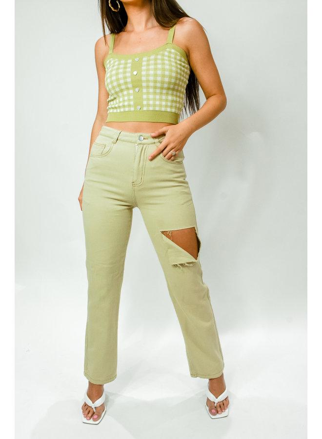 Sage Slit Jeans