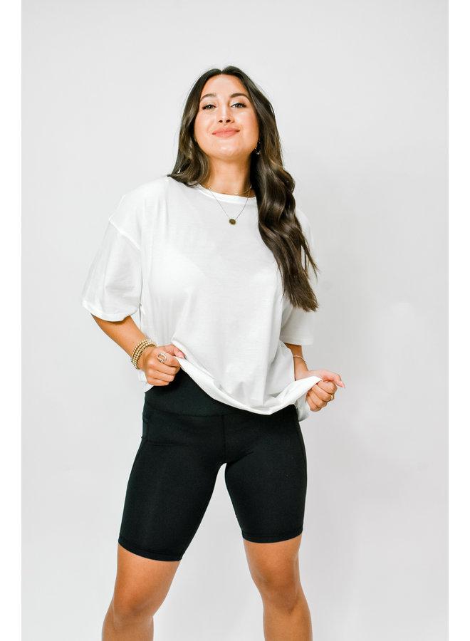 Track Star Biker Shorts - Black