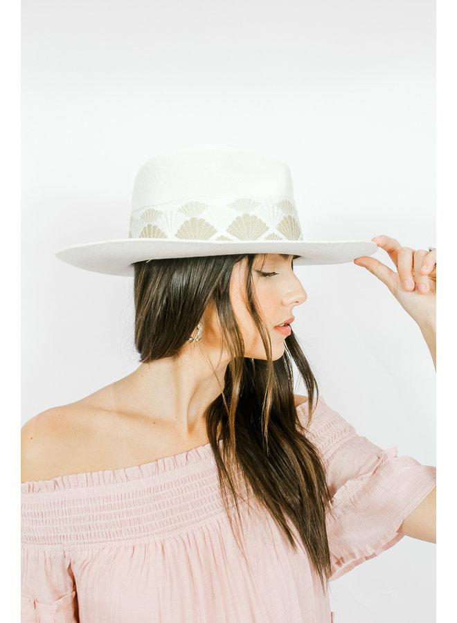 Sophia Scalloped Hat