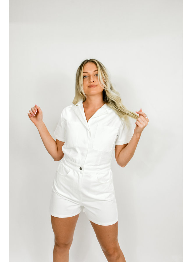 Hails in the City Utility Romper