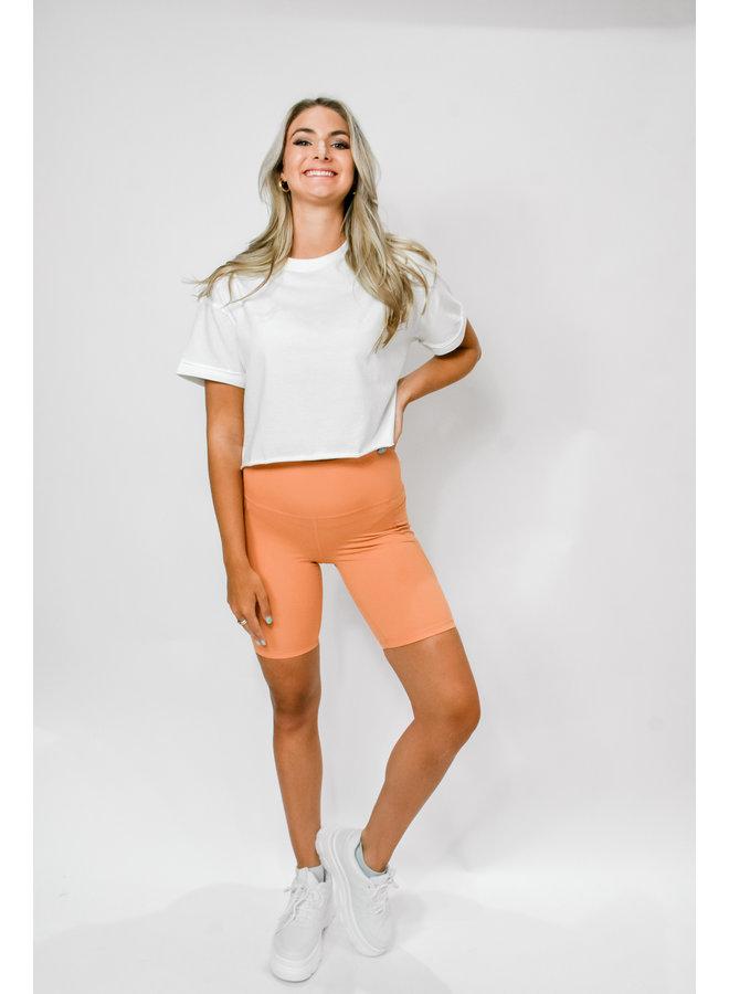 Track Star Biker Shorts - Orange