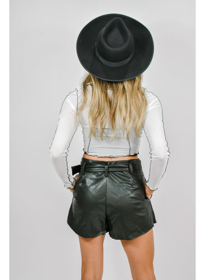Lil Hottie Leather Shorts