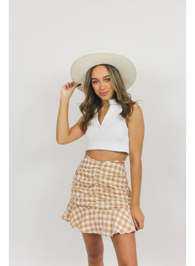 Pumpkin Spice Plaid Skirt