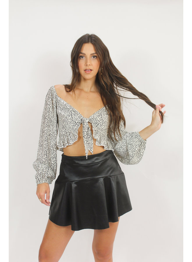 Party Down South Leather Skort