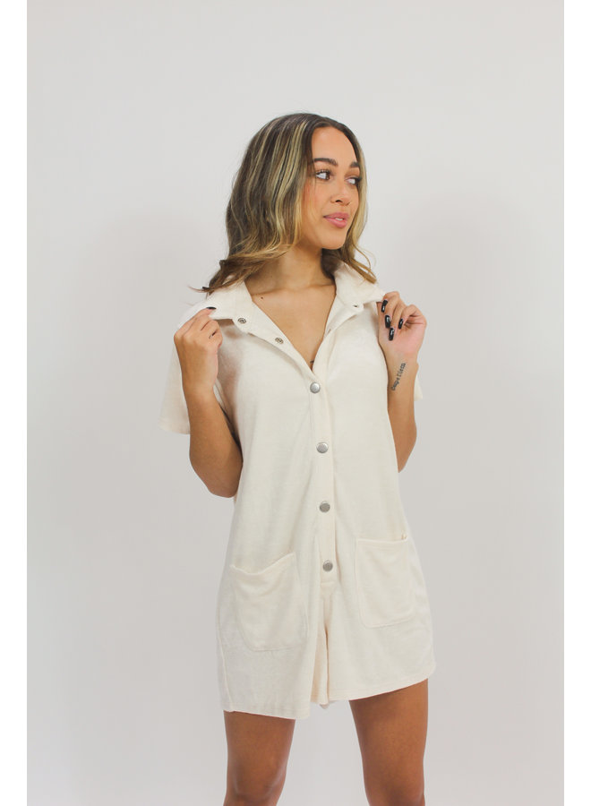 Downtown Terry Romper