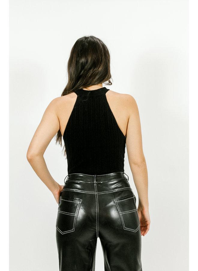 Dark Roast Knit Bodysuit