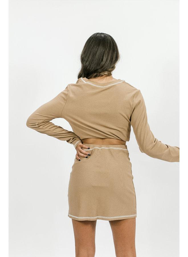Cappuccino Skirt Set
