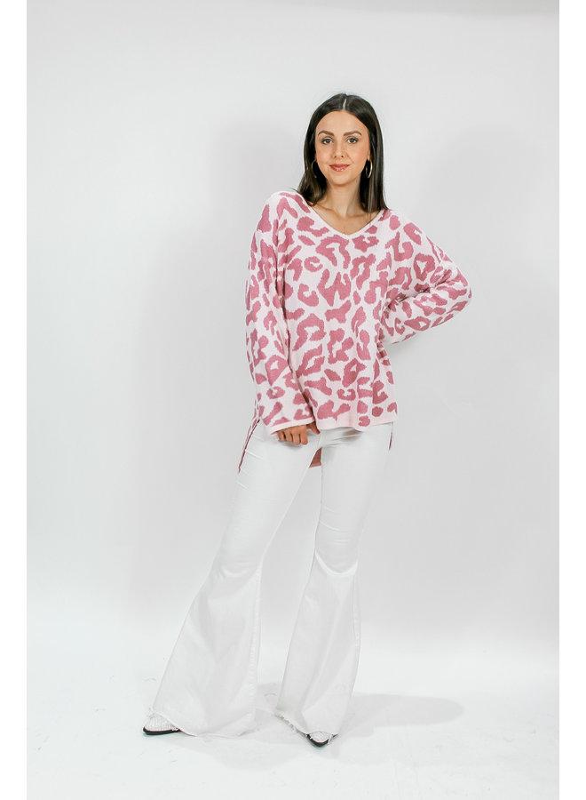 Poppin' Pink Cheetah Sweater