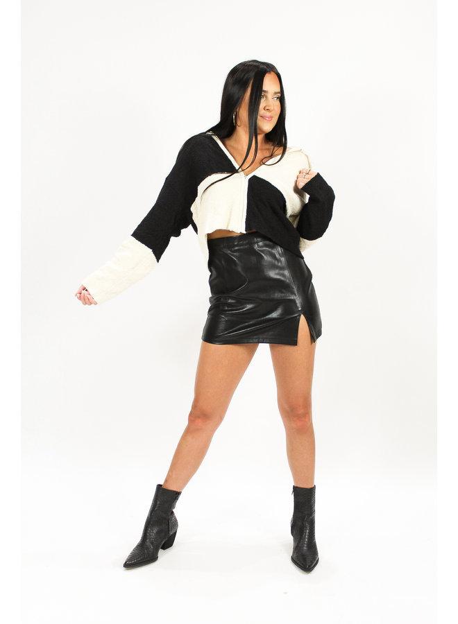 Jax Leather Mini Skirt