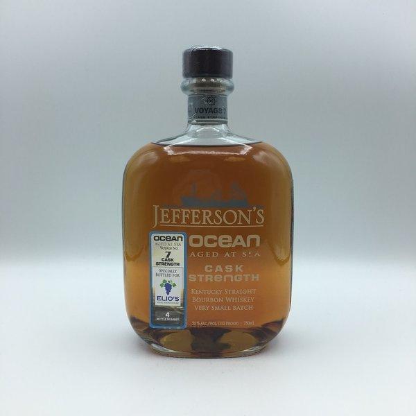 Jefferson's Ocean Aged at Sea Cask Strength Bourbon Whiskey 750ML Elio's Store Pick