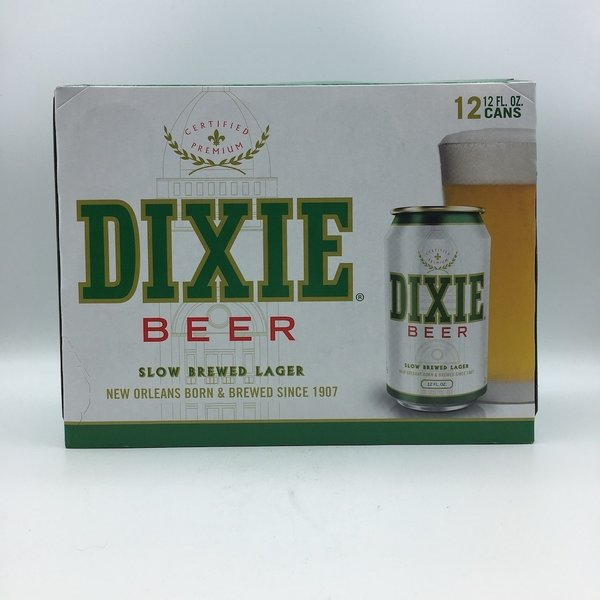 Dixie Beer Cans 12PK 12OZ
