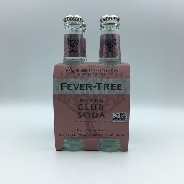 Fever Tree Club Soda Water 4PK 200ML