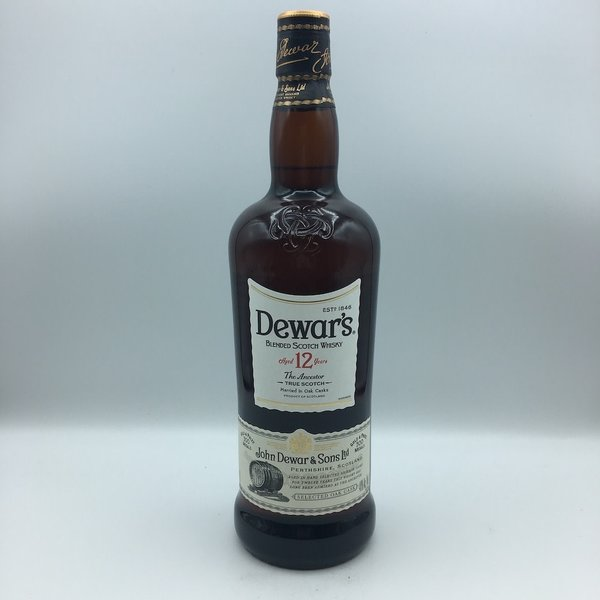 Dewars 12 Double Aged Scotch Liter