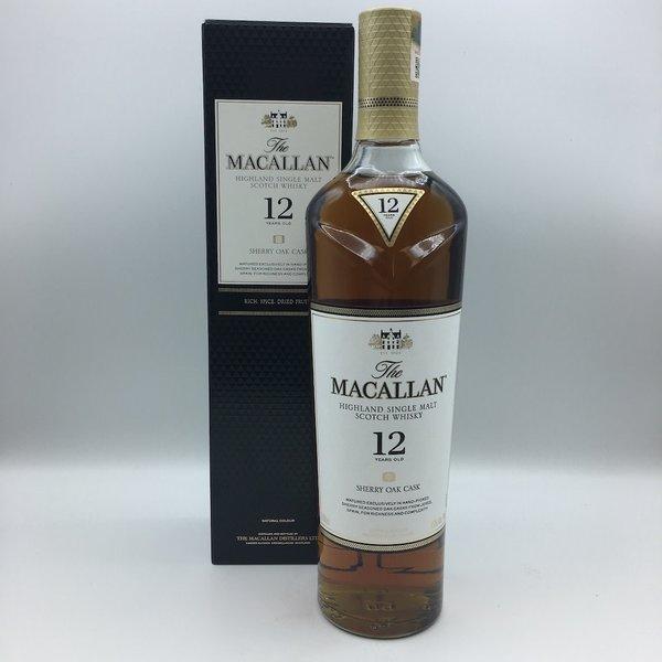 Macallan Sherry Oak Single Malt Scotch 12YRS 750ML