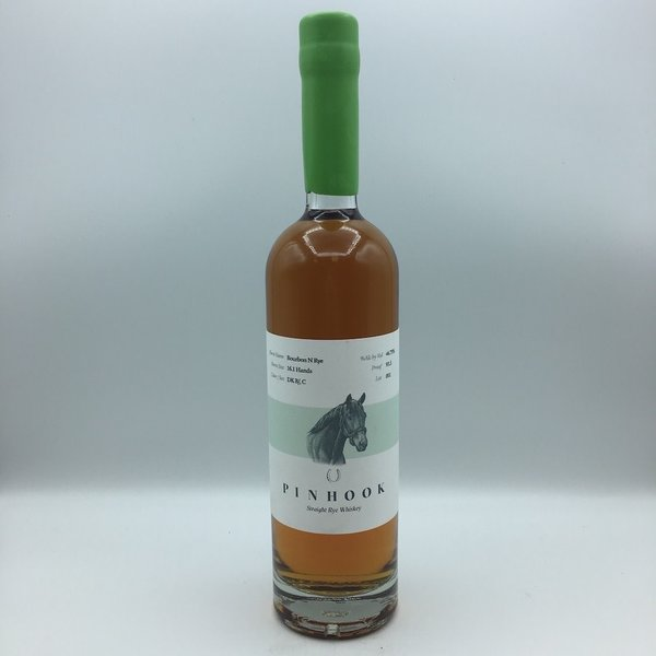 "Pinhook ""Bourbon N Rye"" Rye Whiskey Green Wax 750ML"