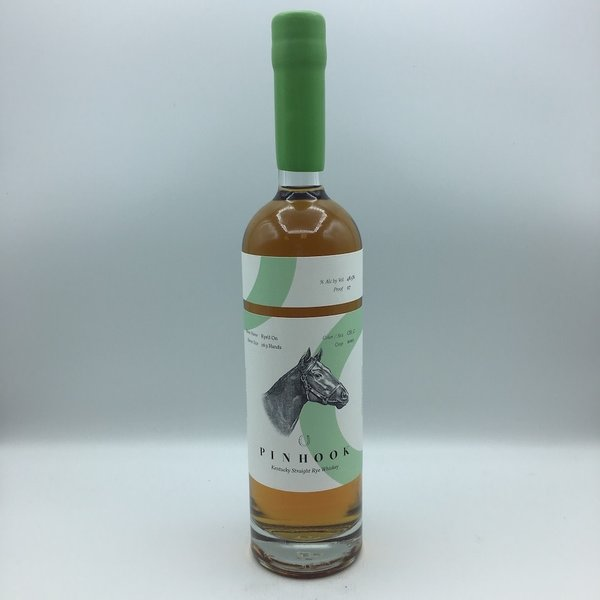 "Pinhook ""Rye'd On"" Flagship Rye Whiskey Green Wax 750ML"