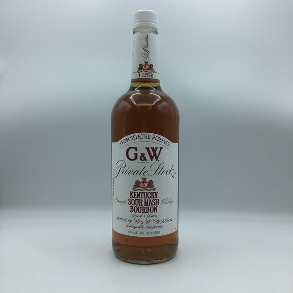 G & W Private Stock Kentucky Sour Mash Bourbon Liter