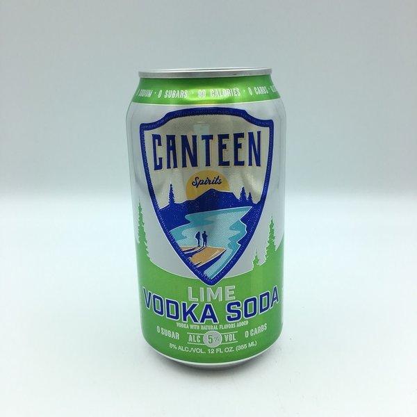Canteen Lime Vodka Soda 6PK 12 OZ