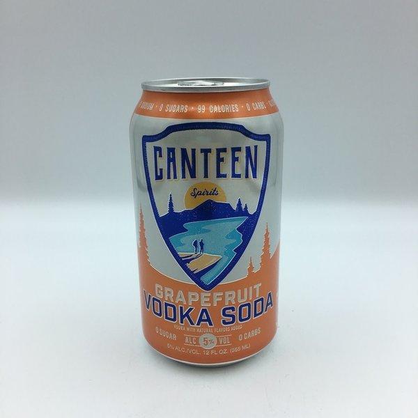 Canteen Grapefruit Vodka Soda 6PK 12 OZ