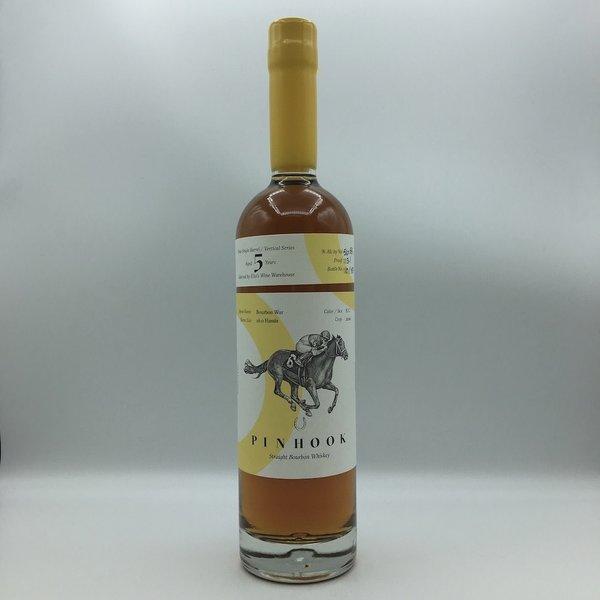 "Pinhook ""Bourbon War"" 5YRS Elio's Store Pick Vertical Series Straight Bourbon Whiskey Yellow Wax 750ML"