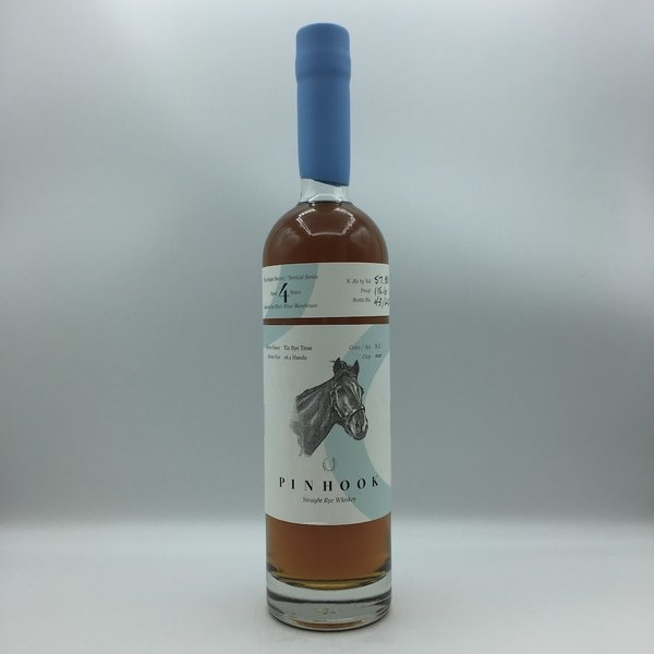 "Pinhook ""Tiz Rye Time"" Elio's Single Barrel Vertical Series 4 Year Straight Rye Whiskey 750ML BLUE WAX"