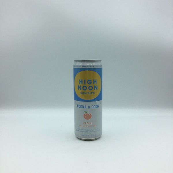 High Noon Peach Vodka & Soda 4PK 355ML