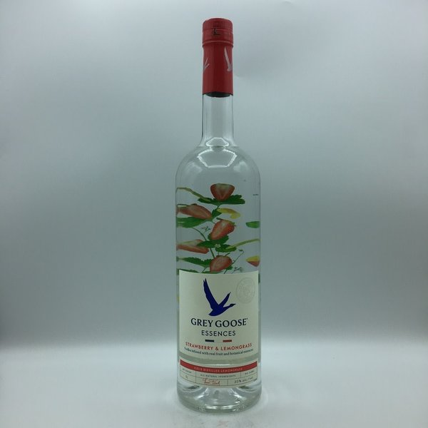 Grey Goose White Strawberry & Lemongrass  Essences Vodka Liter