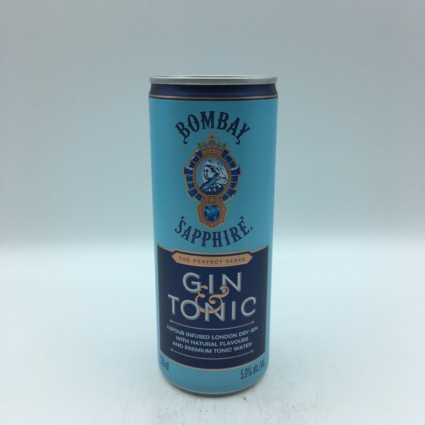 Bombay Sapphire Gin & Tonic SINGLE 250ML
