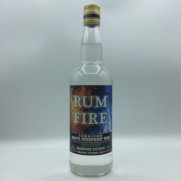 Rum Fire Jamaican White Overproof Rum 750ML