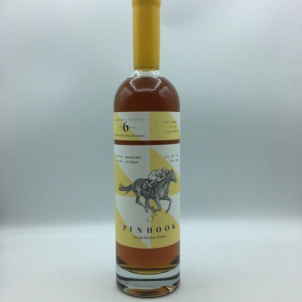 "Pinhook ""Bourbon War"" 6YRS Elio's Store Pick Vertical Series Straight Bourbon Whiskey Yellow Wax 750ML"