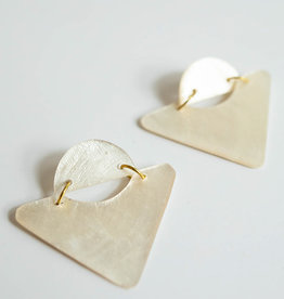 SYLCA White Triangle Shell Kira Ears