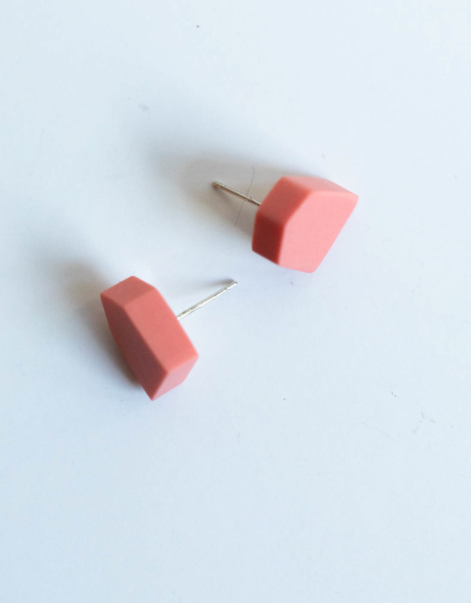 SYLCA Geo Pink Stud Ear
