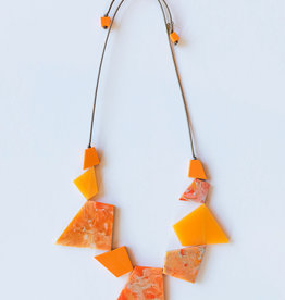 SYLCA Orange Geo Strand Neck