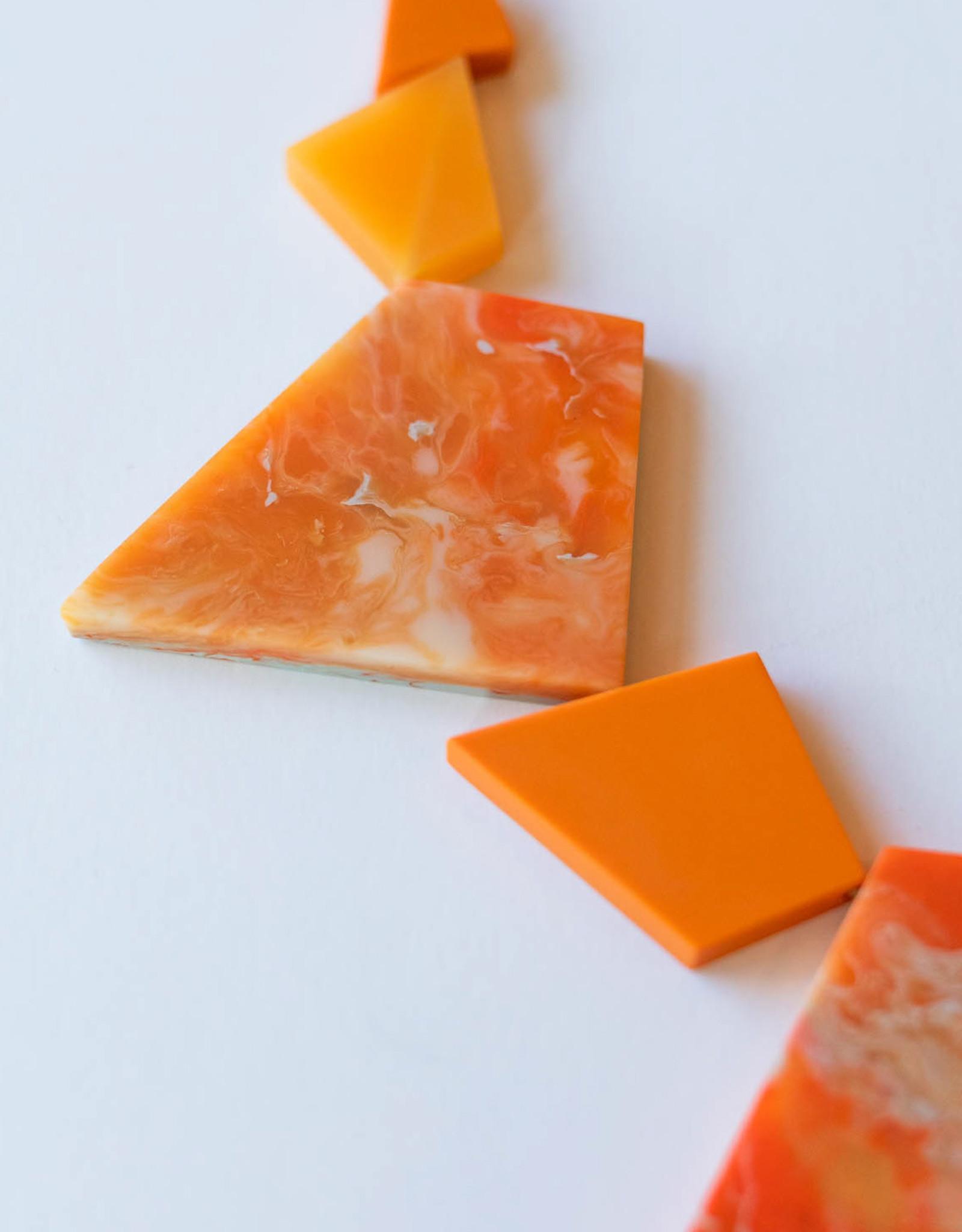 SYLCA Orange Geo Strand Neck