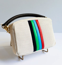 Clare V Midi Sac Cream w/Desert Stripes