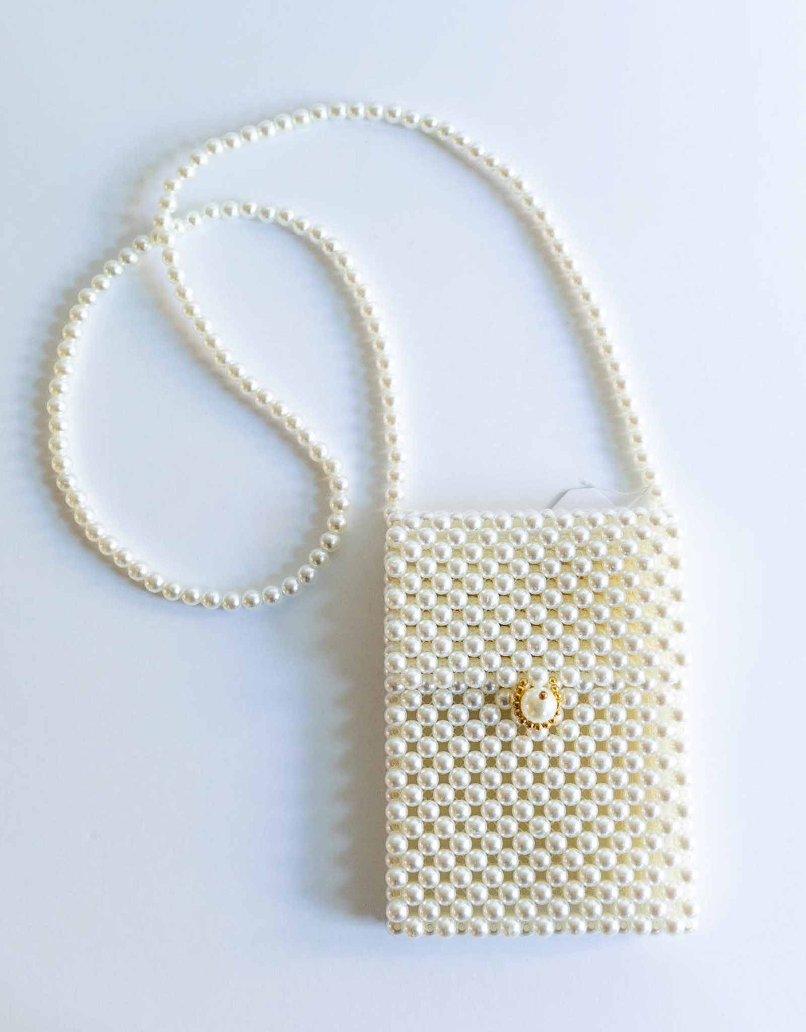 Melie Bianco Pearl Beaded Party Crossbody