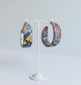 Golden Stella Colorful Snake Gradual Hoops
