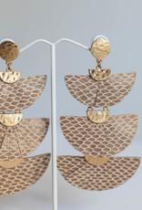 Golden Stella Beige Snake Layered Fan